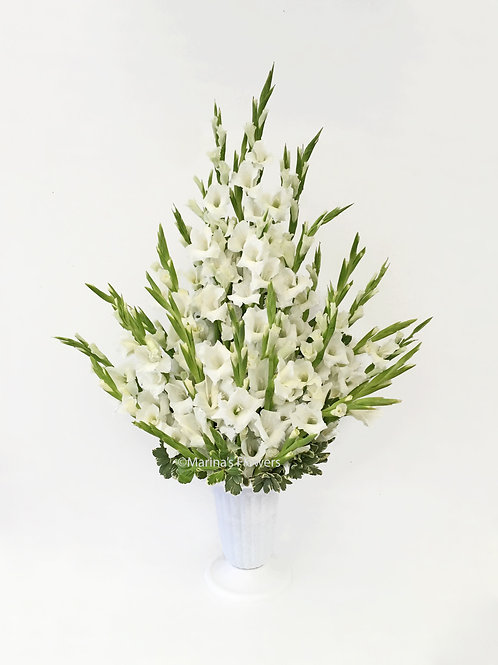 White Gladiolus Arrangement