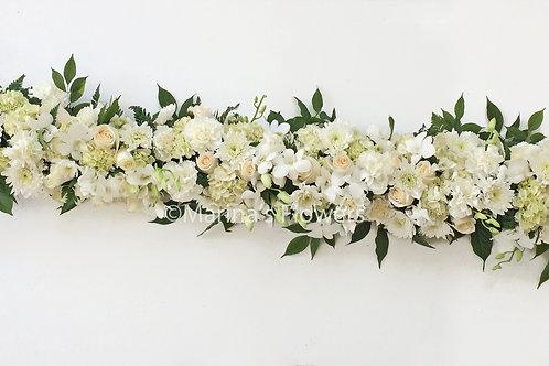 White Long Table Centerpiece