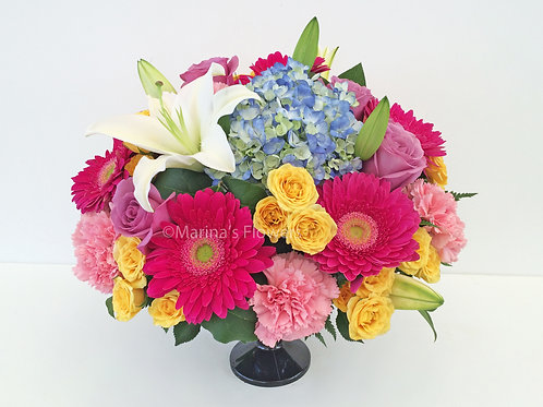 Round Colorful Centerpiece