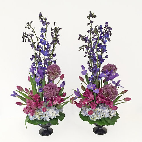 Purple Vase Arrangements