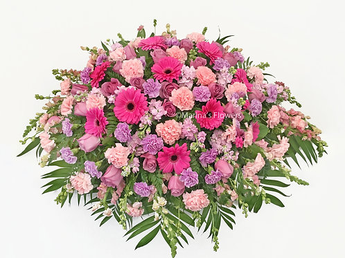 Pinks and Lavenders Casket Spray