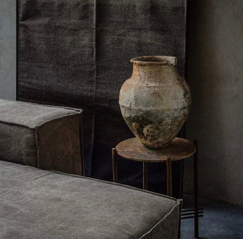 Casa Atica design and produce most of their objects but some pieces are carefully selected for the beauty and the history behind them, like this antique traditional mayan vase.