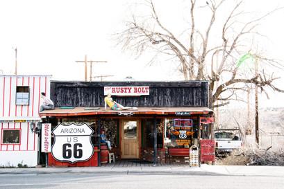 Route 66 store next the road USA roadtrip ideas