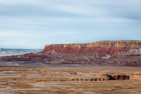 Traveling towards the grand canyon desert photo