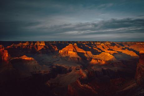 sunset photography grand canyon USA roadtrip
