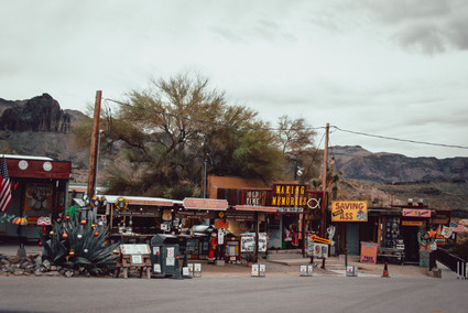 mining town on route 66 middle of nowhere