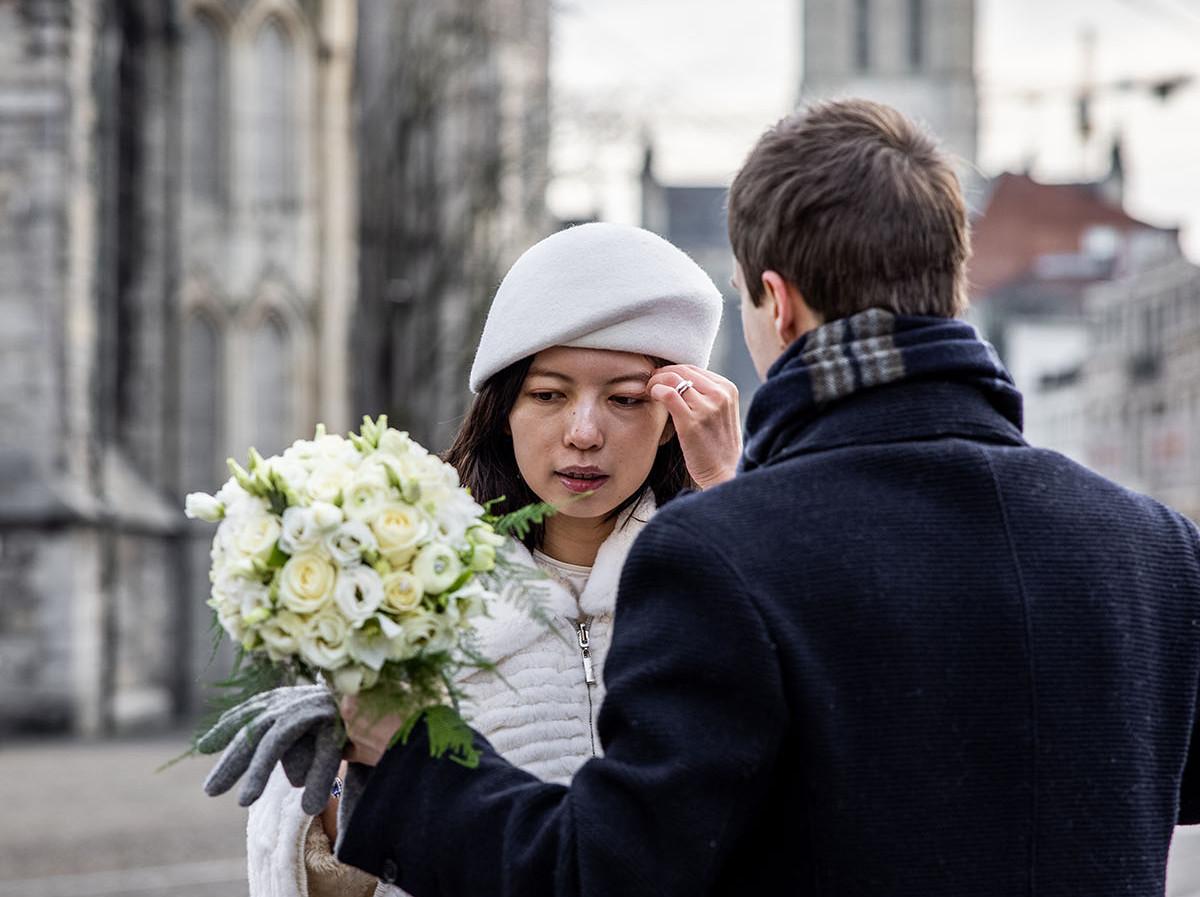 Huwelijksfotograaf Gent Korenmarkt fotografie