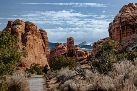 arches national park mountains photography