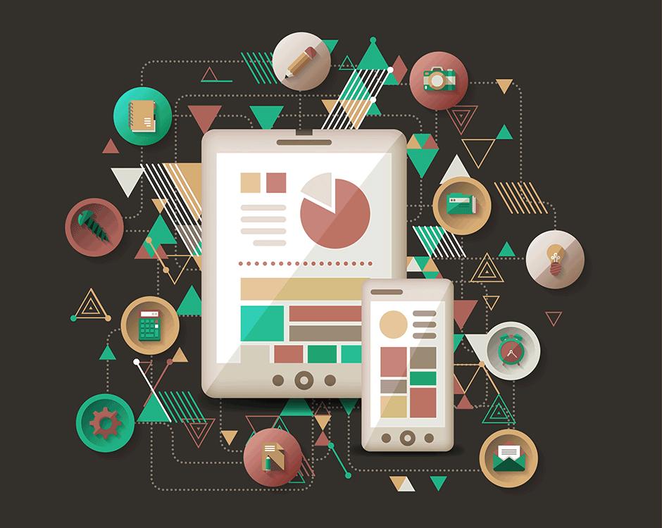 Flat Web Design trend - knight design - web design tips