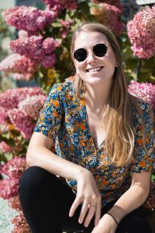 Portret fotograaf in Gent bloemen
