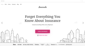 Homepage design trend insurance company