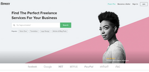 Creative website design with bold colors and leading lines