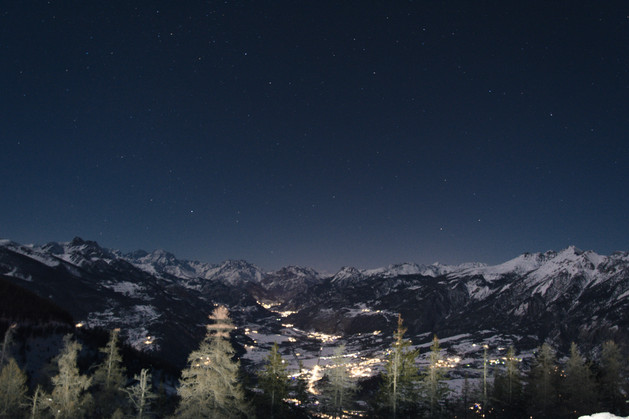 night photography in the alps france stars