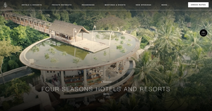 Luxurious hotel website design - unique destination website developer