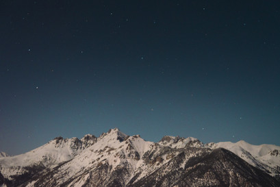 Night photography in the mountains of Risoul France