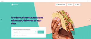 Food delivery website homepagedesign