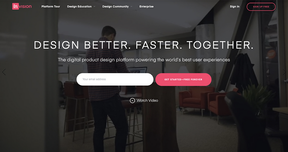 Bold homepage design with a focus on the elevator pitch