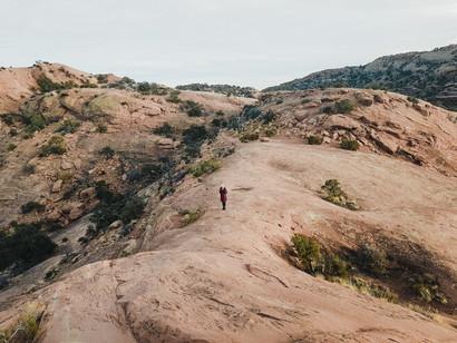 walking on slick rocks national park