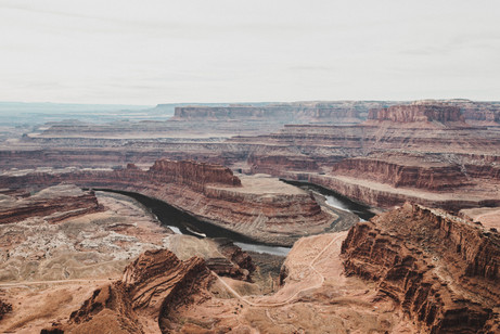 Dead horse national park lookout river bend