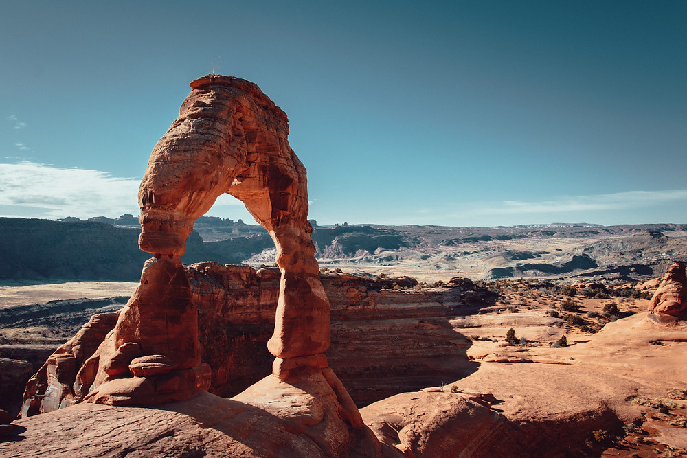 Arches delicate arch picture blue sky photography