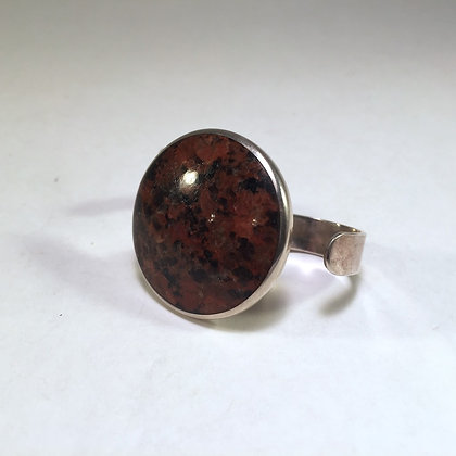 Two Finger Ring with granite stone