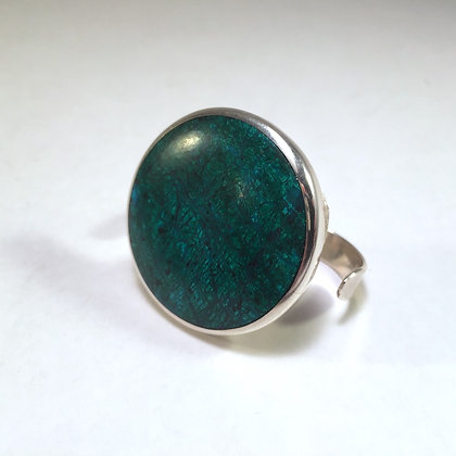Two Finger Ring with green turquoise