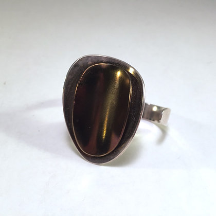 Two Finger Ring with brown titanium