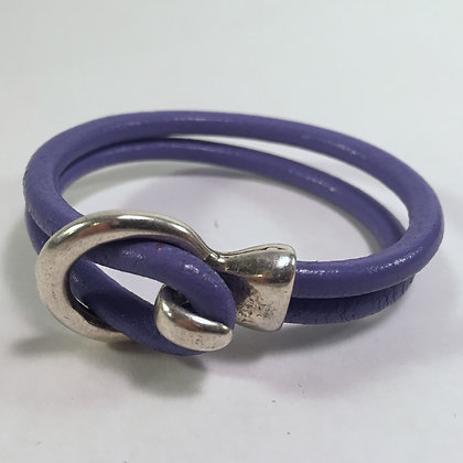 Leather Bracelet - Purple