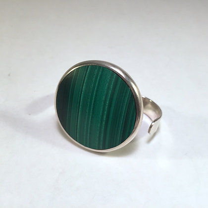 Two Finger Ring with Malachite