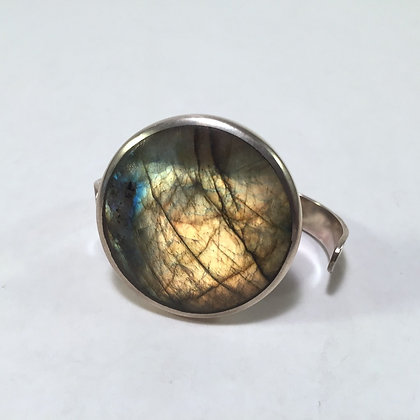 Two Finger Sterling Ring with Labradorite