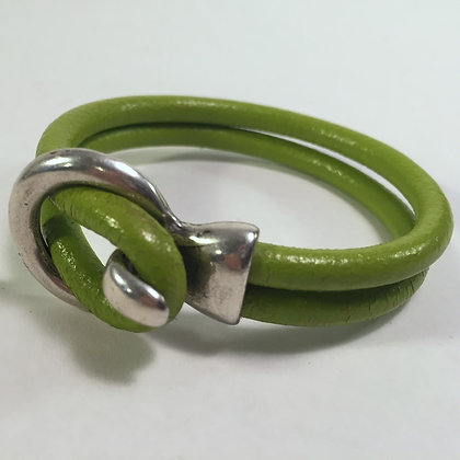 Leather Bracelet - Green