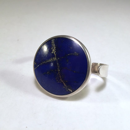 Two Finger Ring with Lapis