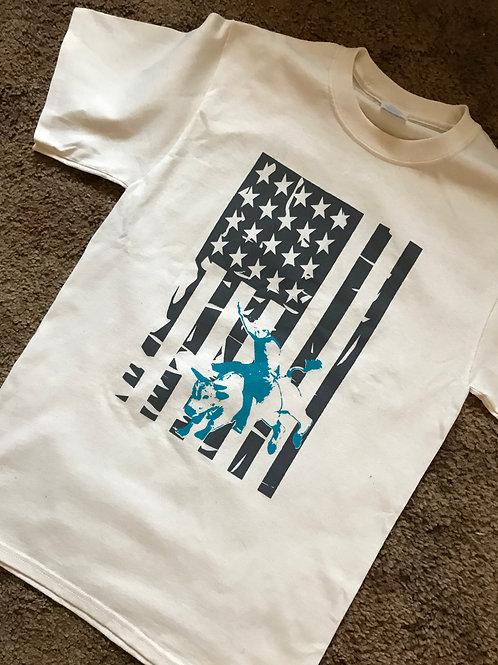 UniSex Flag w/Rider T-Shirt