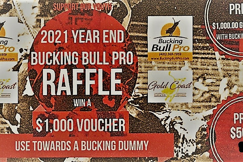 2021 Bucking Bull Pro Raffle for GCBBA Junior Member's