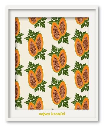 """papaya"" print"