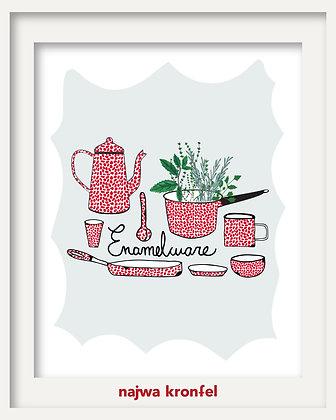 """enamelware"" print"