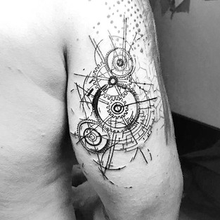 SKETCH - GEOMETRIC - BLACKWORK
