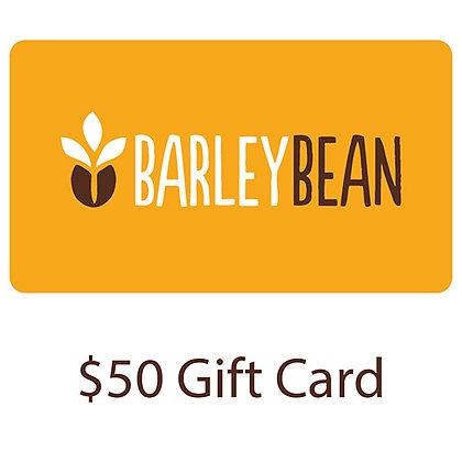 BARLEY BEAN GIFT CARD