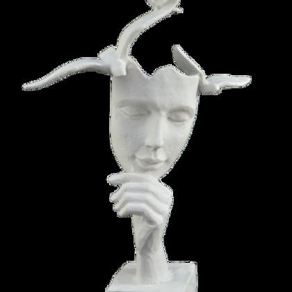 Mask Kuşlu Adam  Polyester
