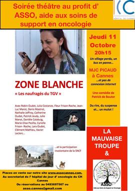 """soirée théatre """"zone blanche"""""""