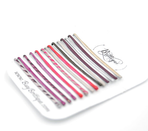 Pink, Purple and white Bobby Pins