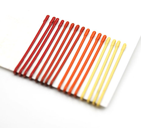 Red, orange and yellow Bobby Pins