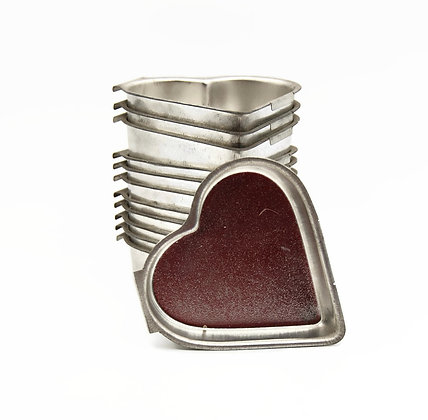 Metal heart shaped mold