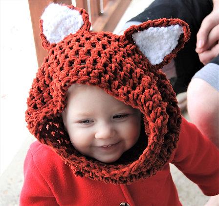 Kids hooded fox cowl