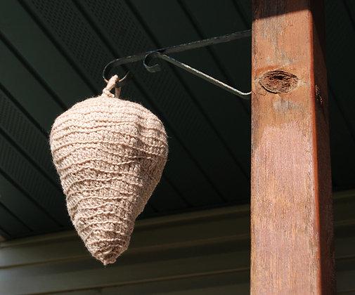 Crochet wasp or hornet nest