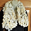 Thumbnail: White and cream pom pom infinity scarf