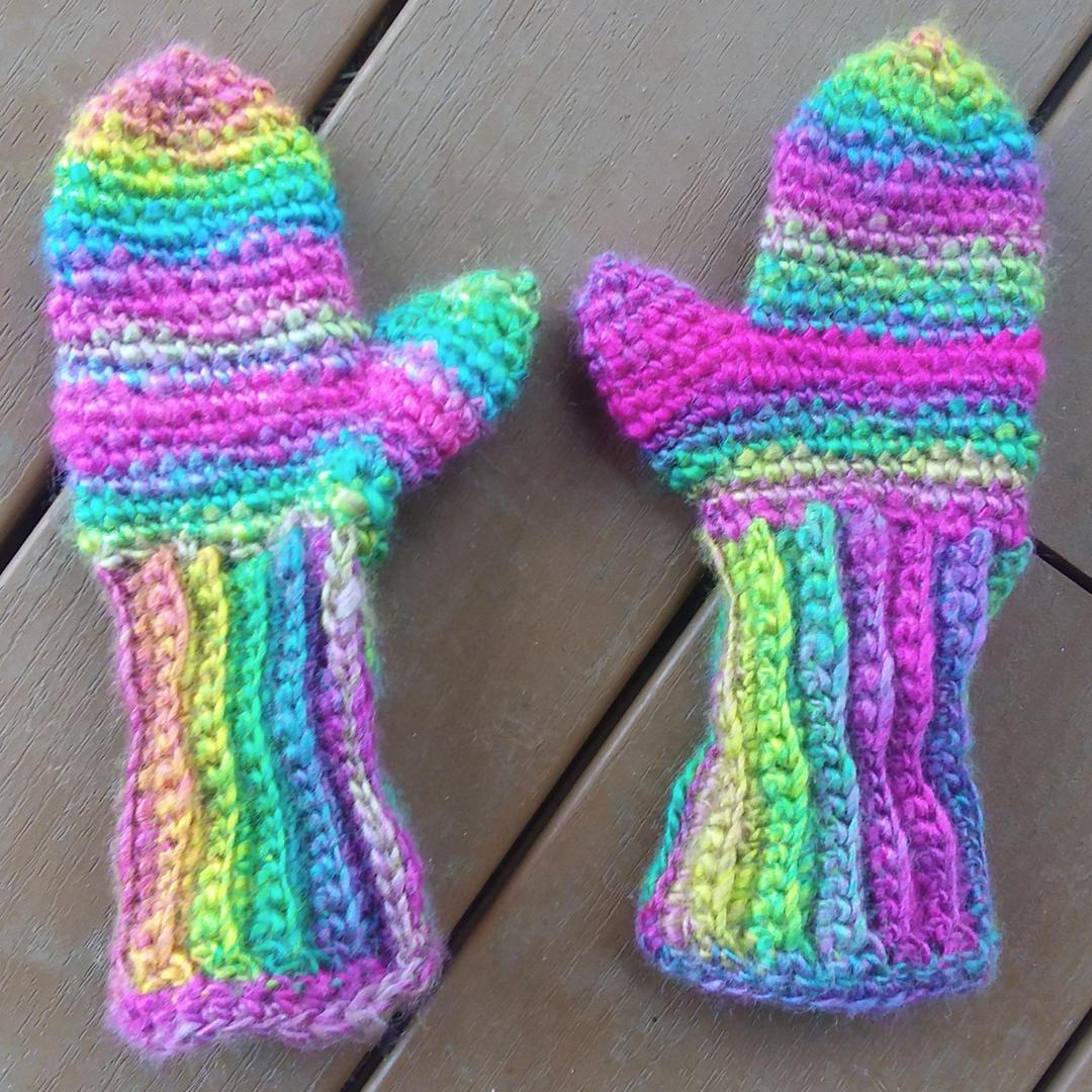 Elley's Rainbow Mittens