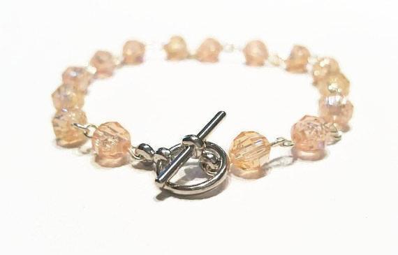 Delicate Orange Beaded Bracelet