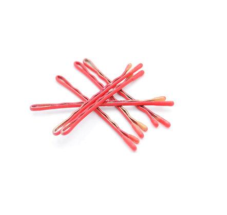 Coral Bobby Pins