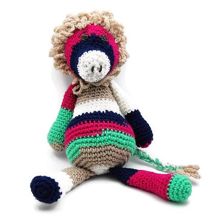 Colorful Crochet Lion